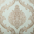 LUXURIOUS LACE WALLPAPER IN AQUA