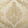 LUXURIOUS LACE WALLPAPER IN TAN