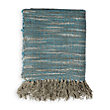 Maroc Blue Throw With Fringe