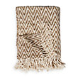 Maroc Chevron Throw In Natural