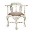 Merle Corner Chair In White