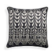 ONYX FEATHER BEADED PILLOW