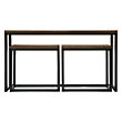 PALMER NESTING CONSOLE TABLE SET IN BALI BROWN