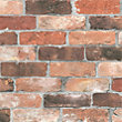 RECLAIMED BRICKS WALLPAPER IN ORANGE