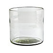 RECYCLED GLASS SMALL CLEAR CYLINDER 45