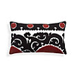 RED SUZANI EMBROIDERED MEDALLION RECTANGULAR PILLOW