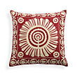 RED SUZANNI EMBROIDERED SQUARE PILLOW