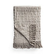 Rouched Linen Throw