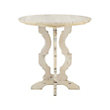 ROUND END TABLE IN BLEACHED
