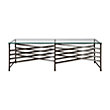 "ROWEN 60"" RECTANGLE COFFEE TABLE IN PEWTER"