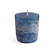 """RUSTIC 1.5"""" VOTIVE IN ENGLISH BLUE (SET OF 12)"""