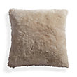Sheepskin Longwool Floor Cushion in Taupe