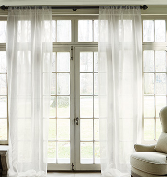 Arhaus Silk Organza Sheer