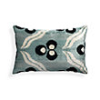 SILK VELVET AQUA BLOSSOM RECTANGLE PILLOW
