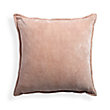 STONE WASHED VELVET SQUARE PILLOW IN BLUSH