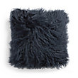 "Tibetan 16"" Square Longwool Pillow in Navy"