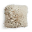 "Tibetan 16"" Square Longwool Pillow in Sand"