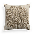TREE OF LIFE GOLD BEADED PILLOW