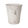 WHITE DEER VASE IN 10