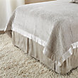 WILLOW KING PLEATED BED SKIRT IN GREY