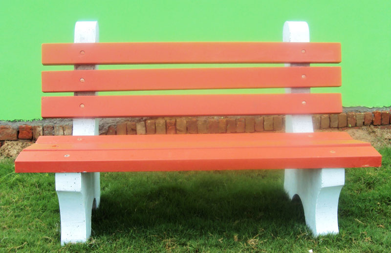 Awesome Garden Benches Cement Part - 7: Concrete Garden Bench With Back Rest (Concrete Garden Benc)