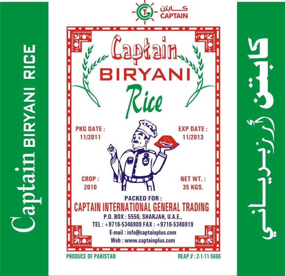Captain Biryani Rice