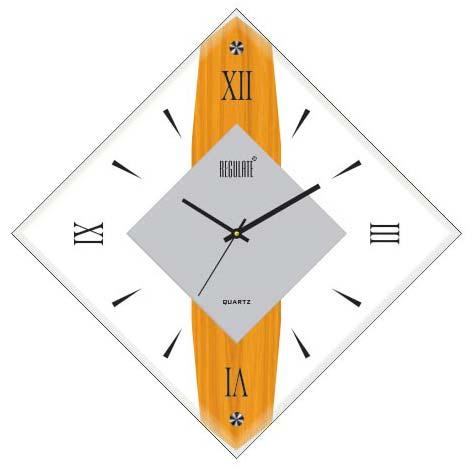 Narrow Glazed Wall Clock