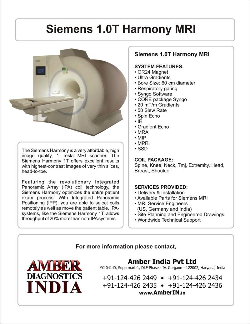Buy Siemens Harmony 10T MRI from Amber Diagnostics India Gurgaon – Siemens Site Planning