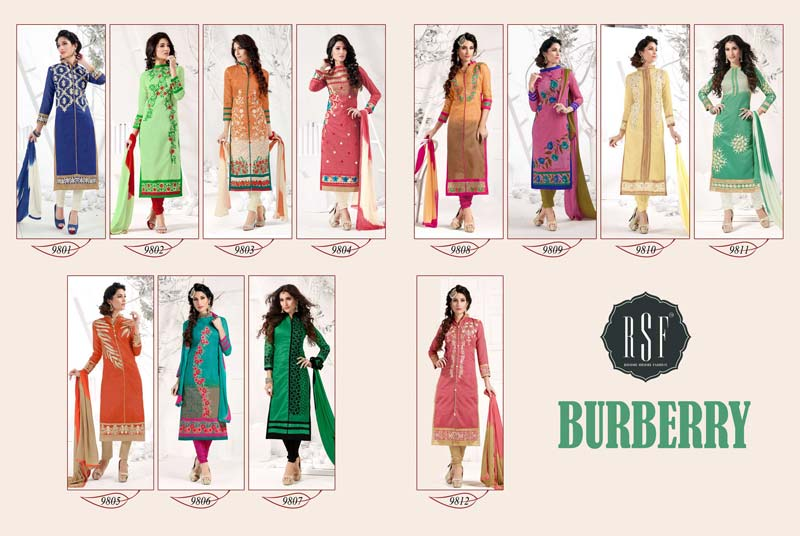 Burberry New Fashion Silk Burrberry Semistitched Salwar Suit Manufacturer In Id 1914228