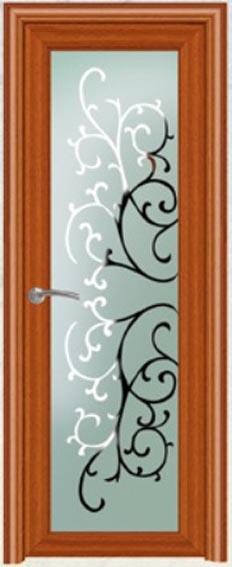 Aluminum Single Door Room Door Interior Door Glass Door