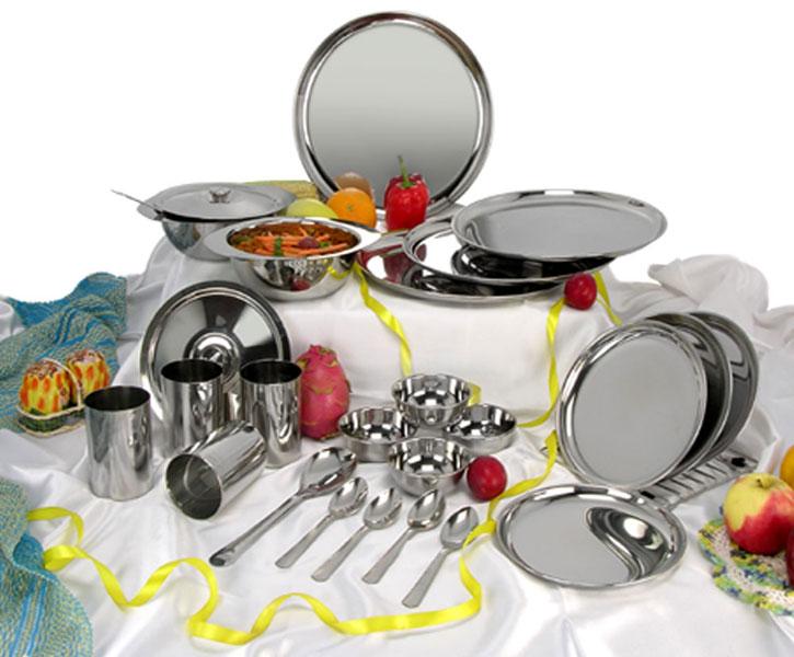 24 Piece Stainless Steel Dinner Set