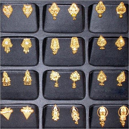 Gold Earrings Manufacturer in Rajkot Gujarat India by Radhekrishna