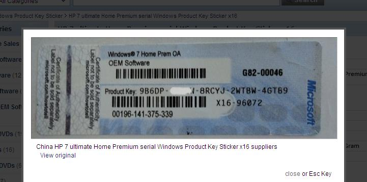 Windows Product Key Sticker Manufacturer & Exporters from, China