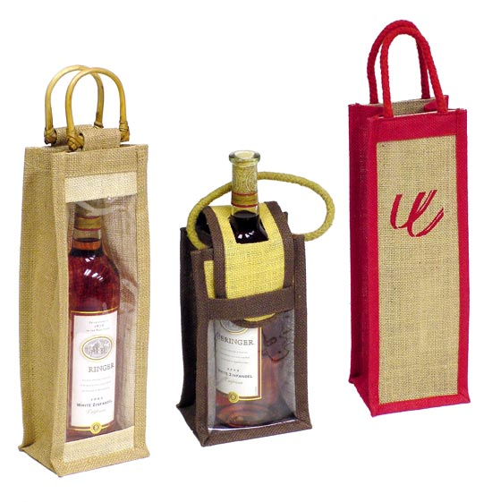 Jute wine bottle bags manufacturer in bangladesh by