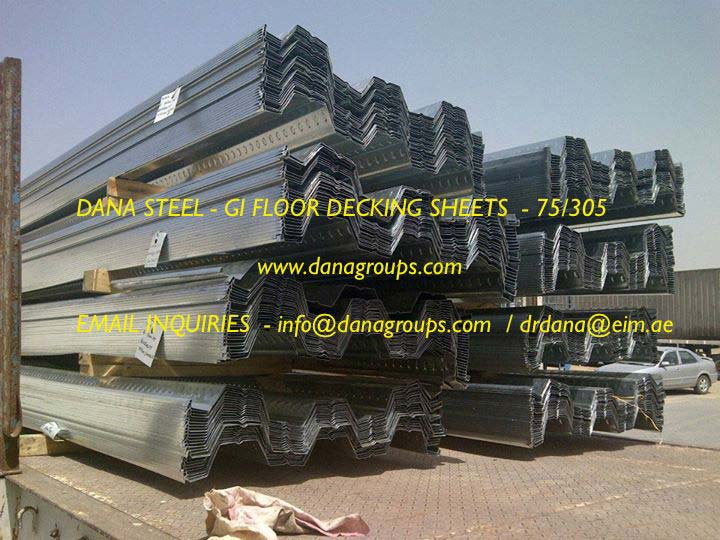 GI Steel Floor Decking System (DSD 75/305 Manufacturer in Dubai