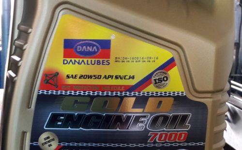 HIGH PERFORMANCE GASOLINE ENGINE OIL IN AFRICA (DANA LUBES)