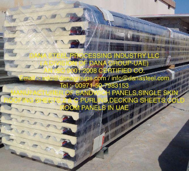 PIR sandwich panel supplier in ajman (DANA STEEL)