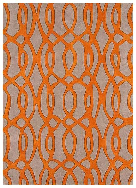 Ribbed Orange Rug (AGHFRG 000 (5))