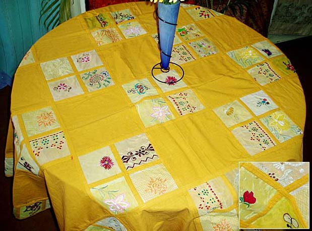 Yellow Round Table Cover (AGHFTC 000 (2))