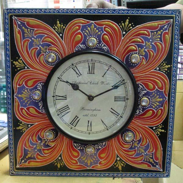 Meenakari Wall Clock
