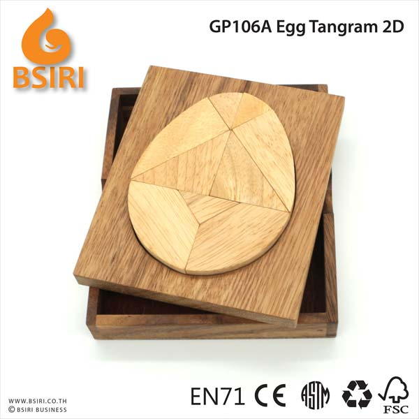 Egg Tangram 2d Wooden Puzzle Manufacturer Exporters From Chiangmai
