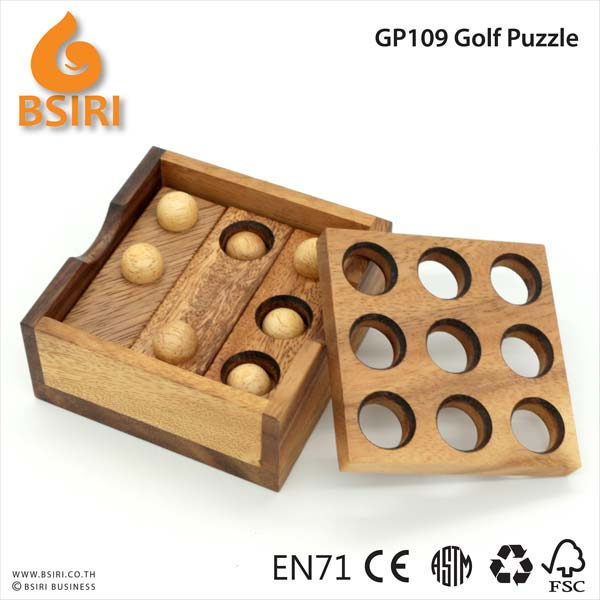 Golf Puzzle Brain Teaser Wooden Puzzle Manufacturer Exporters From