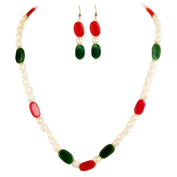 Under 899 Sets Pearls Necklace Earring Set