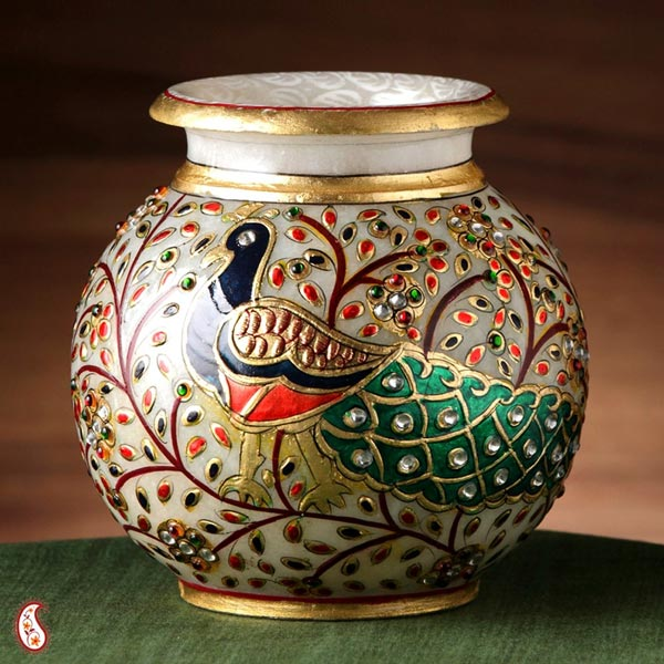 Decorative marble pots manufacturer in new delhi delhi - Decorative stones online india ...