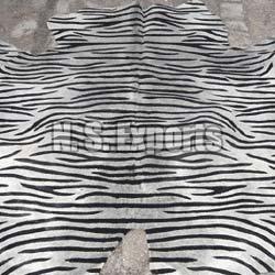 Zebra Stenciled Leather