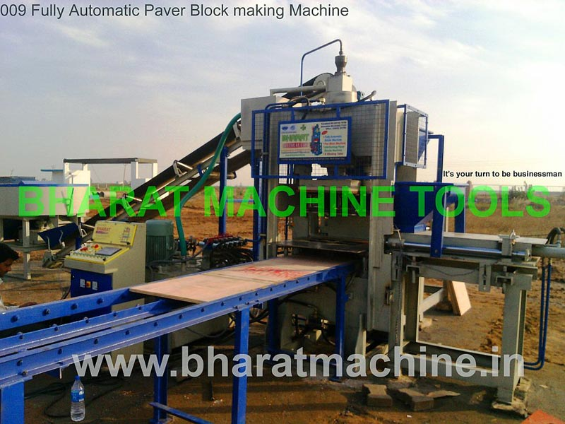 Fully Automatic Paver Block Making Machine (BMT - 009)