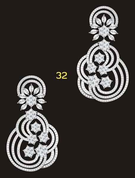 Diamond Dangle Earrings Manufacturer & Manufacturer from Mumbai ...