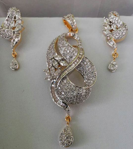 Buy cubic zirconia pendant set from mehra jewels india id 705807 cubic zirconia pendant set aloadofball Gallery