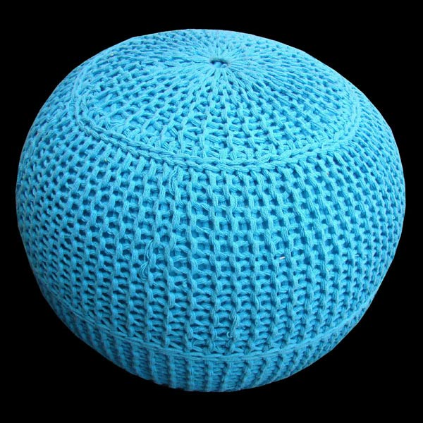 Hand Knitted Poufs