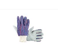 Knit Wrist Leather Palm Glove